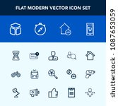 modern  simple vector icon set... | Shutterstock .eps vector #1087653059