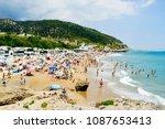sitges  spain   july 9  2017 ... | Shutterstock . vector #1087653413