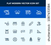 modern  simple vector icon set... | Shutterstock .eps vector #1087653584