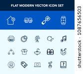 modern  simple vector icon set...   Shutterstock .eps vector #1087656503