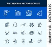 modern  simple vector icon set... | Shutterstock .eps vector #1087656680