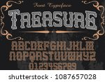 vintage font typeface... | Shutterstock .eps vector #1087657028