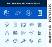 modern  simple vector icon set... | Shutterstock .eps vector #1087658180