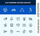 modern  simple vector icon set... | Shutterstock .eps vector #1087659950
