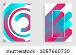 modern abstract covers set.... | Shutterstock .eps vector #1087660730