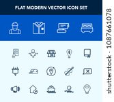 modern  simple vector icon set... | Shutterstock .eps vector #1087661078