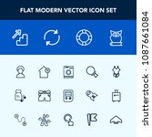 modern  simple vector icon set... | Shutterstock .eps vector #1087661084