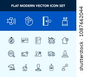 modern  simple vector icon set... | Shutterstock .eps vector #1087662044