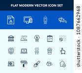 modern  simple vector icon set... | Shutterstock .eps vector #1087662968