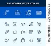 modern  simple vector icon set...   Shutterstock .eps vector #1087663733