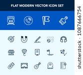 modern  simple vector icon set... | Shutterstock .eps vector #1087666754
