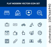 modern  simple vector icon set... | Shutterstock .eps vector #1087666940