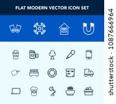 modern  simple vector icon set... | Shutterstock .eps vector #1087666964