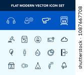 modern  simple vector icon set... | Shutterstock .eps vector #1087667708