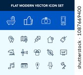 modern  simple vector icon set... | Shutterstock .eps vector #1087669400