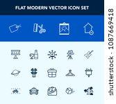 modern  simple vector icon set... | Shutterstock .eps vector #1087669418