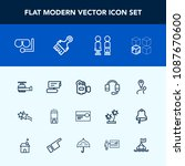 modern  simple vector icon set... | Shutterstock .eps vector #1087670600