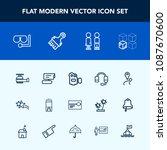 modern  simple vector icon set... | Shutterstock .eps vector #1087670600