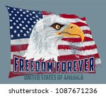 vector illustration bald eagle... | Shutterstock .eps vector #1087671236