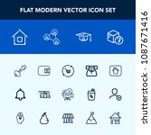modern  simple vector icon set... | Shutterstock .eps vector #1087671416
