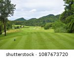green golf course lawn on green. | Shutterstock . vector #1087673720