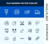 modern  simple vector icon set... | Shutterstock .eps vector #1087675934