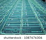 circuit pcb board for background | Shutterstock . vector #1087676306
