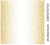 gold glitter background vector... | Shutterstock .eps vector #1087676714