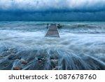 Sea Pier During A Hurricane At...