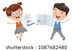 vector illustration of student... | Shutterstock .eps vector #1087682480