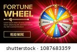 fortune wheel design. casino... | Shutterstock . vector #1087683359