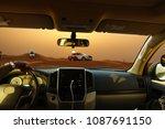 off road safari with suv... | Shutterstock . vector #1087691150