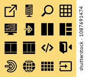 filled set of 16 web icons such ... | Shutterstock .eps vector #1087691474