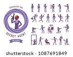 secret agent black man ... | Shutterstock .eps vector #1087691849