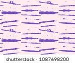 baby pink  blue stripes organic ... | Shutterstock .eps vector #1087698200
