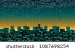 abstract futuristic smart city... | Shutterstock .eps vector #1087698254