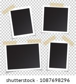 frames of photo with shadow pin ... | Shutterstock .eps vector #1087698296