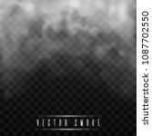fog or smoke isolated... | Shutterstock .eps vector #1087702550