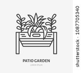 patio garden flat line icon.... | Shutterstock .eps vector #1087705340