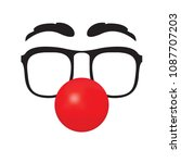 clown's face isolated on a... | Shutterstock .eps vector #1087707203