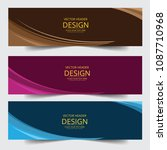 set of modern vector banners... | Shutterstock .eps vector #1087710968
