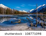 Partially Frozen Lake With...