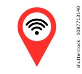 wifi signal pointer vector | Shutterstock .eps vector #1087713140