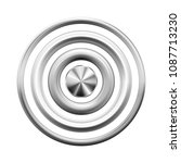 silver metal rings  buttons ... | Shutterstock .eps vector #1087713230