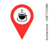 coffee shop icon vector | Shutterstock .eps vector #1087715480