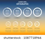 infographic template for... | Shutterstock .eps vector #1087718966