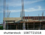 building under construction. | Shutterstock . vector #1087721018