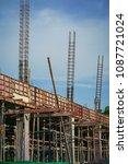 building under construction. | Shutterstock . vector #1087721024