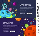 vector horizontal web banners... | Shutterstock .eps vector #1087724210