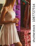 fashion and female wardrobe.... | Shutterstock . vector #1087727516